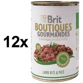 Konzerva Brit Boutiques Gourmandes Lamb Bits&Paté 12 x 400g