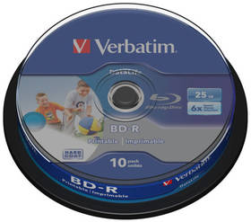 Verbatim BD-R 25GB, 6x, 10-cake (43804)