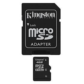 Kingston MicroSDHC 4GB Class4 + adapter (SDC4/4GB)