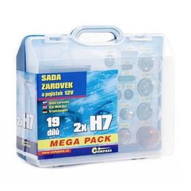Autožárovky Compass 12 V servisní box MEGA H7+H7+pojistky