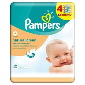 Pampers Natural Clean 256ks