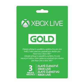 Microsoft Xbox LIVE Gold - zlaté členství 3 měsíce (52K-00263)