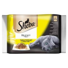 Sheba DELICACY in Jely hydinový výber 4pack (4x 85 g)