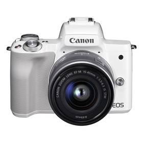 Canon EOS M50 + EF-M15-45 (2681C012) bílý + Doprava zdarma