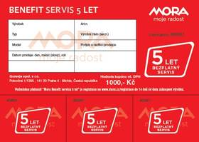Mora Benefit – 5let bezplatný servis + Doprava zdarma
