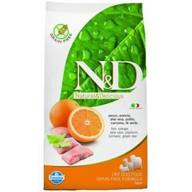 N&D Grain Free DOG Adult Fish & Orange 12 kg Plastový kontejner na granule N&D Farmina + Doprava zdarma