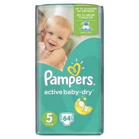 Pampers Active Baby-dry vel.5 Junior, 64ks