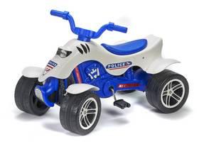 Šlapací čtyřkolka FALK policie - bílá/modrá/plast + Doprava zdarma