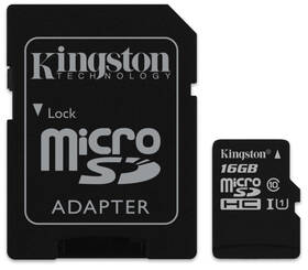 Kingston Canvas Select MicroSDHC 16GB UHS-I U1 (80R/10W) + adapter (SDCS/16GB)