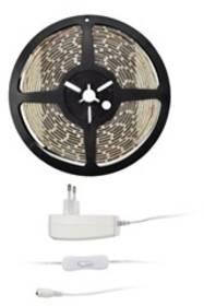 LED pásek Solight 4,8 W/m, studená bílá 6000K, adaptér s vypínačem (WM50-20T)