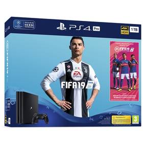Sony PlayStation 4 PRO 1TB + FIFA 19 + PS PLUS Voucher (PS719752615) černý + Doprava zdarma
