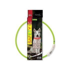 Dog Fantasy LED nylonový M/L zelený