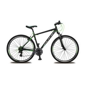 """Olpran HARRIER 28"""" černé/šedé/zelené + Reflexní sada 2 SportTeam (pásek, přívěsek, samolepky) - zelené v hodnotě 58 Kč + Doprava zdarma"""