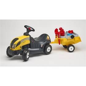 FALK - traktor Constructor s volantem, valníkem a příslušenstvím plast