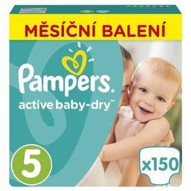 Pampers Active Baby Monthy Box S5 150 ks Mléčná kaše Nutrilon Pronutra krupicová s ovocem, 225g (zdarma) + Doprava zdarma