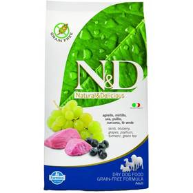N&D Grain Free DOG Adult Lamb & Blueberry 12 kg Plastový kontejner na granule N&D Farmina + Doprava zdarma
