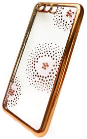 Beeyo Flower Dots pro Huawei P10 (BEAHUP10TPUFLGO) zlatý