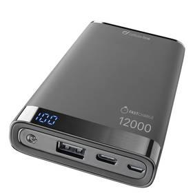 Powerbank CellularLine Freepower Manta S 12000mAh, USB-C (FREEPMANTA12USBCK) černá