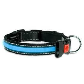 Obojok Karlie LED nylonový s USB nabíjením 66 cm modrý