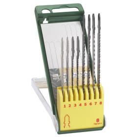 Sada pílových plátkov Bosch 8dílná kazeta pilových plátků na dřevo/kov/plast (T-stopka)