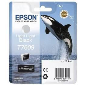 Epson T7609, 25,9 ml, světle černá (C13T76094010)