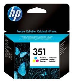 HP No. 351, 3,5 ml - originální (CB337EE) červená/modrá/žlutá