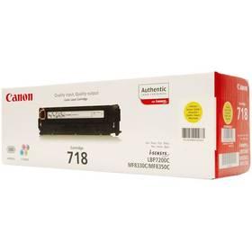 Canon CRG-718Y, 2,9K stran - originální (2659B002) žlutý + Doprava zdarma