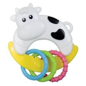 Canpol babies zvířátko s kroužky kravička černé/bílé/modré/žluté/zelené/růžové