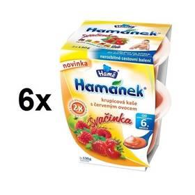 Hamánek svačinka krupicová kaše s červeným ovocem 6x(2x130g)
