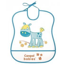 Canpol babies Cheerfull Animals plastový měkký, koník modrý