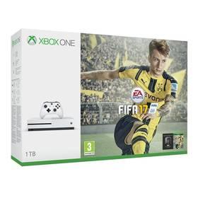Microsoft Xbox One S 1 TB + FIFA 2017 (234-00032) bílá + Doprava zdarma