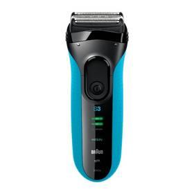 Braun Series 3-3040s Wet&Dry černý/modrý + Doprava zdarma