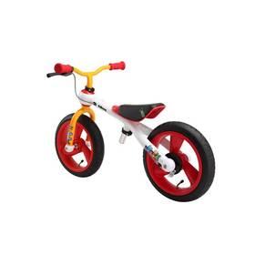 Jd Bug Training Bike Crazzy Colours bílé/červené/oranžové + Reflexní sada 2 SportTeam (pásek, přívěsek, samolepky) - zelené v hodnotě 58 Kč + Doprava zdarma