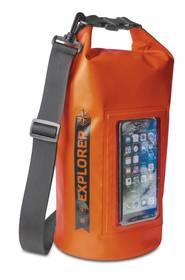 """Celly voděodolný vak Explorer 5L s kapsou na telefon do 6,2"""" - oranžový"""