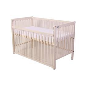 Postieľka detská drevená For Baby Magda stahovací bok bílá transparentní