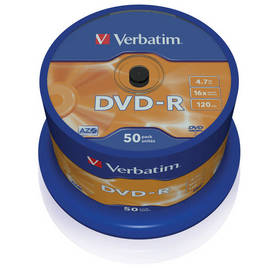 Verbatim DVD-R 4,7GB, 16x, 50-cake (43548) + Doprava zdarma