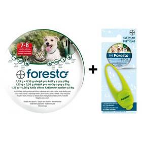 Bayer Foresto 38 cm pro kočky a malé psy Světýlko Bayer Foresto kost zelené (zdarma) + Doprava zdarma