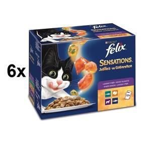 Felix Sensations výběr v ochuceném želé 6 x (12 x 100g)
