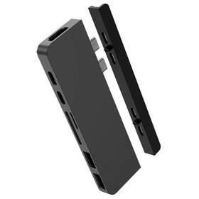 HyperDrive DUO 7-in-2 Hub USB-C MacBook Pro (HY-HD28C-GRAY) sivý