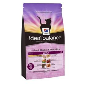 Hill's Ideal Balance Feline Adult with Fresh Chicken & Brown Rice 4 kg + Doprava zdarma
