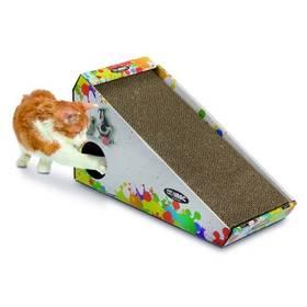 Argi kartonové pro kočky s hračkou a šantou - 48 x 27 x 20 cm Toaleta Argi s rámem a vysokým okrajem - 45 x 36 x 15,5 cm - zelená (zdarma)