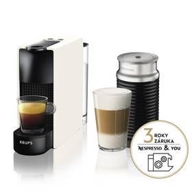 Krups Nespresso Essenza mini XN111110 & Aeroccino 3 biele