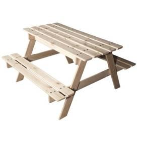 Dětský piknikový stoleček CUBS dřevěný s úložným prostorem + Doprava zdarma