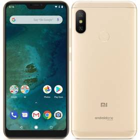 Xiaomi Mi A2 Lite 64 GB (19058) zlatý SIM s kreditem T-Mobile 200Kč Twist Online Internet (zdarma)Software F-Secure SAFE, 3 zařízení / 6 měsíců (zdarma)
