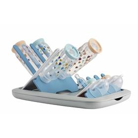 Skládací odkapávač kojeneckých lahví Beaba - šedá/modrá