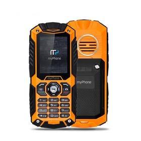 myPhone HAMMER PLUS Dual SIM (TELMYHHAPOR) černý/oranžový SIM s kreditem T-mobile 200Kč Twist Online Internet (zdarma)