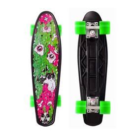 Street Surfing Fuel Board Melting - artist series + Reflexní sada 2 SportTeam (pásek, přívěsek, samolepky) - zelené v hodnotě 58 Kč