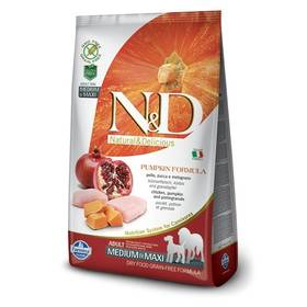 N&D Grain Free Pumpkin DOG Adult M/L Chicken & Pomegranate 12kg + Doprava zdarma