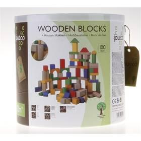 Dřevěné kostky Alltoys v kyblíku