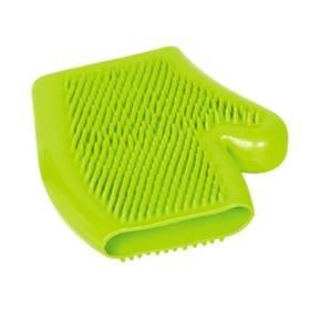 Čistiaca a masážná rukavica Nobby zelená